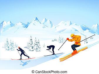 Cruza el país esquiando