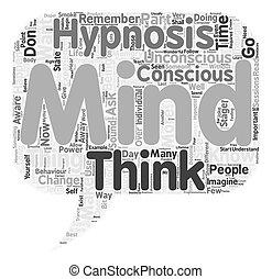 ¿Cuál es el concepto de texto de Hipnosis de fondo de palabra