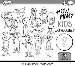 ¿Cuántos niños de colorear