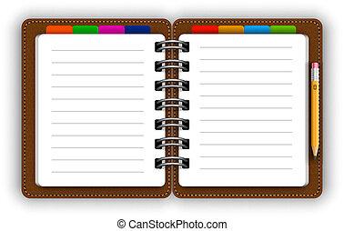 Cuaderno de cuero