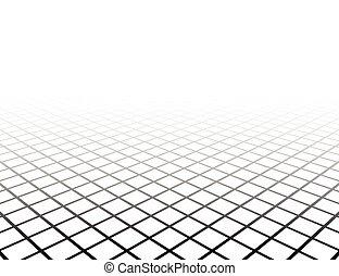 cuadrícula, perspectiva, surface.