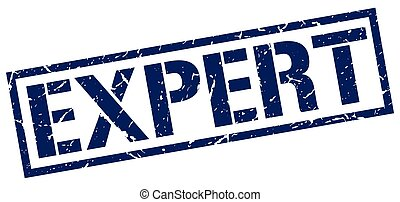cuadrado azul, grunge, experto, estampilla, vendimia, caucho