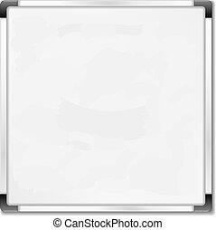 cuadrado, eps10, whiteboard, ilustración, plano de fondo, vector, blanco