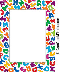 Cuadro alfabeto, fondo blanco