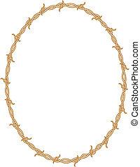 Cuadro de alambre de púas