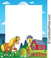 Cuadro de campo con granero rojo 4