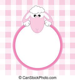 Cuadro rosa de oveja
