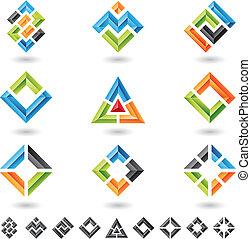 Cuadros, rectángulos, triángulos