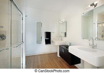 cuarto de baño, condominio, maestro