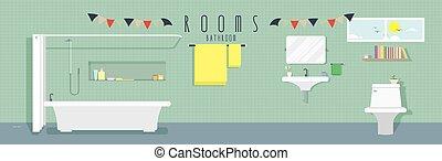 cuarto de baño, (rooms)