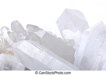 cuarzo, blanco, cristales