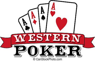 cuatro ases, póker, white., icono