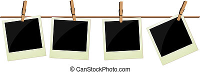cuatro, cuadros, polaroid, ahorcadura