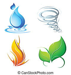 Cuatro elementos de la tierra
