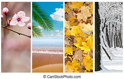 cuatro estaciones, collage
