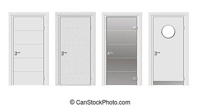 Cuatro puertas modernas