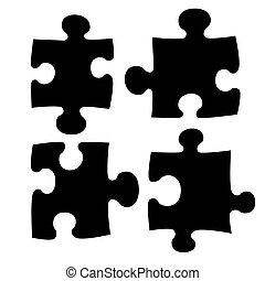 Cuatro rompecabezas