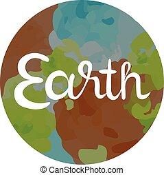 cuatro, tierra, símbolo, elementos