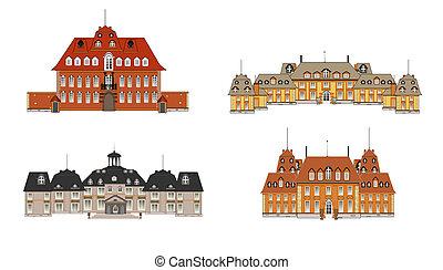 cuatro, vector, palacios