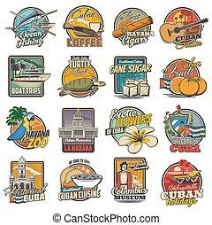 cuba, atracciones, turista, iconos, la habana, viaje