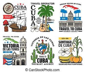 cuba, caribe, iconos, viaje, la habana, turismo