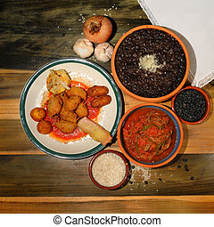 cubano, platos, típico