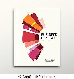 Cubierta de libros de negocios, informe anual abstracto