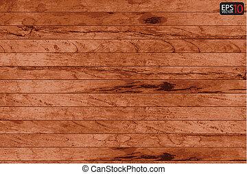 Cubierta de madera del vector