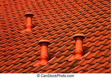 Cubierta de techo inclinado