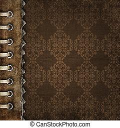 cubierta del álbum, fotos, marrón