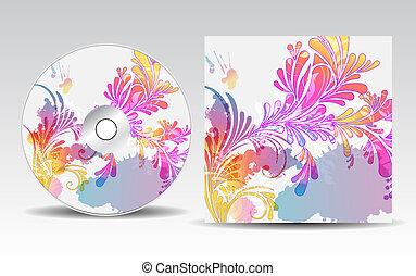 cubierta, diseño, cd