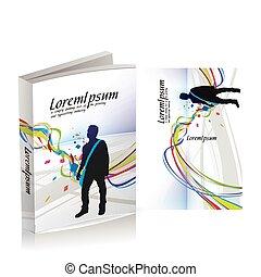 cubierta, libro, diseño