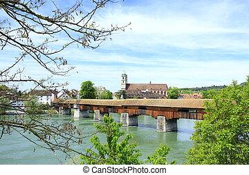 Cubierto puente de madera Saeckingen