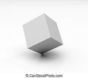 Cubo en blanco