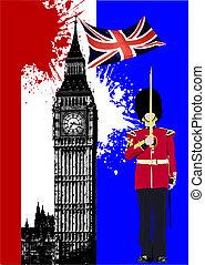 Cubre el folleto con Inglaterra