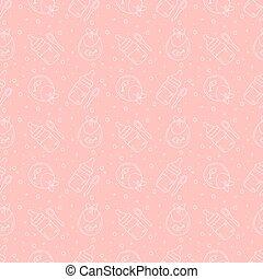 Cucharas de teta y patrones de baberos