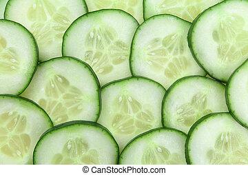 Cucumber rebana fondo