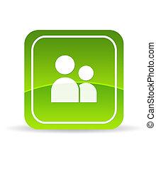 cuenta, verde, usuario, icono
