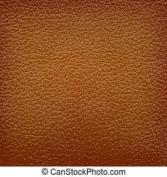 cuero, marrón, vector, illustration., fondo.