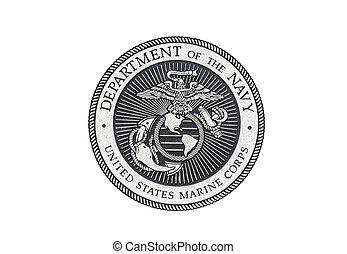 cuerpo, funcionario, marina, sello, u..s..