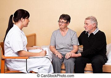 Cuida de un paciente