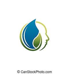 cuidado, logotipo, naturaleza, salud