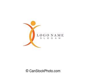 cuidado, logotipo, salud