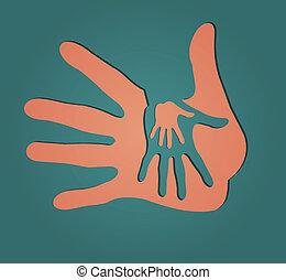 cuidado, manos