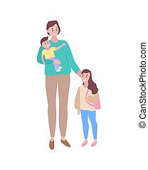 Cuidando a la madre con su hija caminando juntos