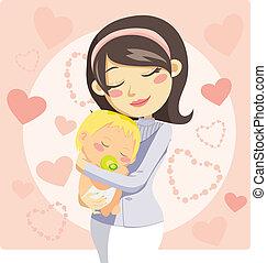 Cuidando a mamá