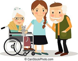 Cuidando a pacientes mayores