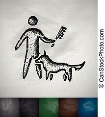 Cuidando de un icono de perro