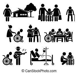 Cuidar ancianos en casa de ancianos