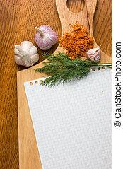 culinario, recetas, cuaderno